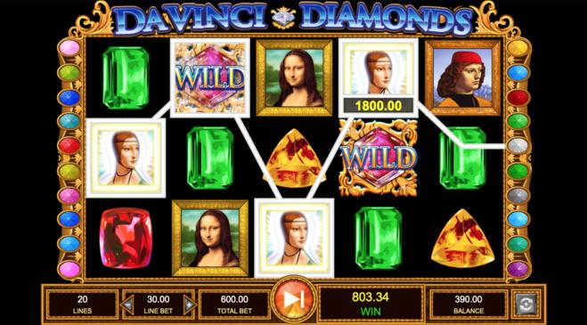 davinci diamonds graphics screen shot
