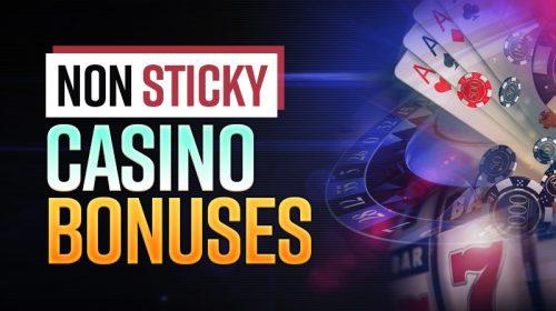 non sticky casino bonuses header