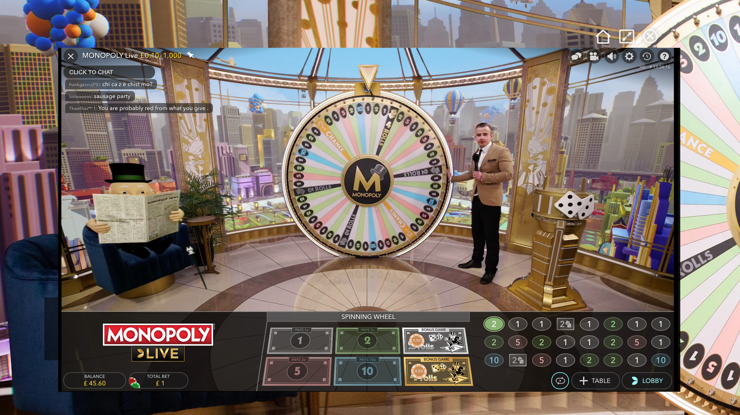 monopoly live dreamcatcher game