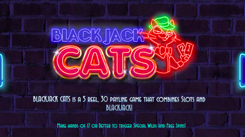 blackjack cats slot logo